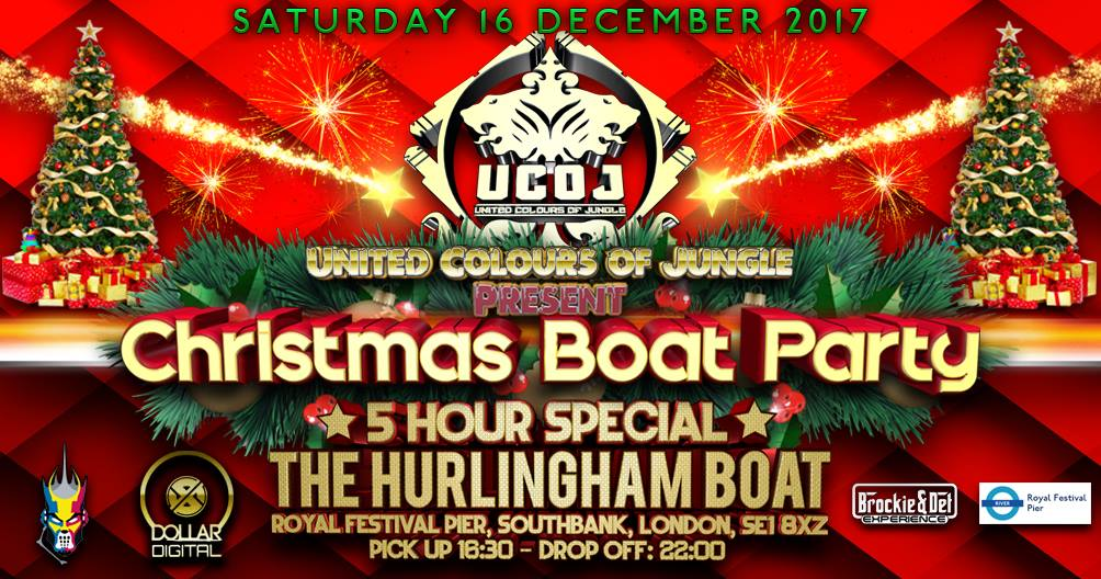 Christmas Boat Party London.Ucoj Christmas Boat Party Jungle Drum And Bass