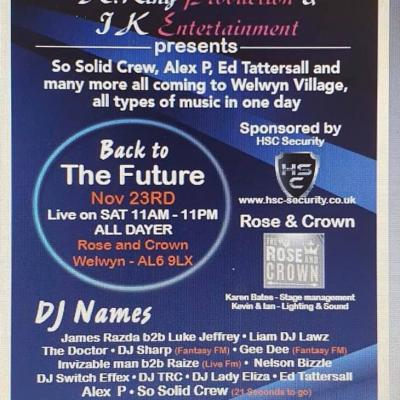 Back To The Future All Dayer - Nov 23rd 2019