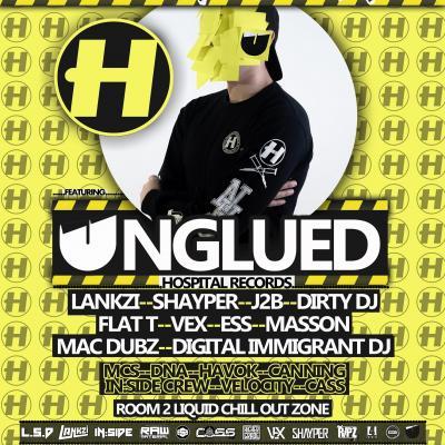 L.S.D events presenting delusional drumz ft UNGLUED!!